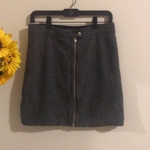 Madewell grey skirt